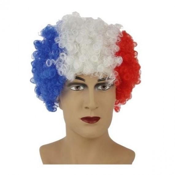 Perruque Tricolore Bleu Blanc Rouge drapeau français