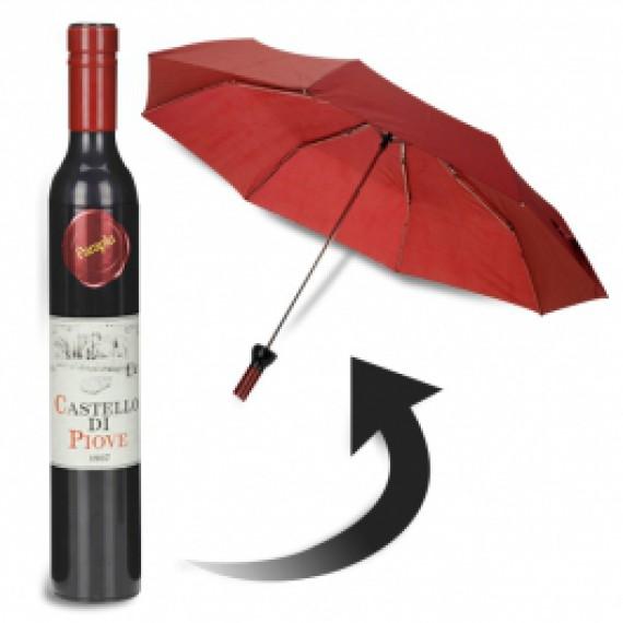 Parapluie en forme de bouteille de vin