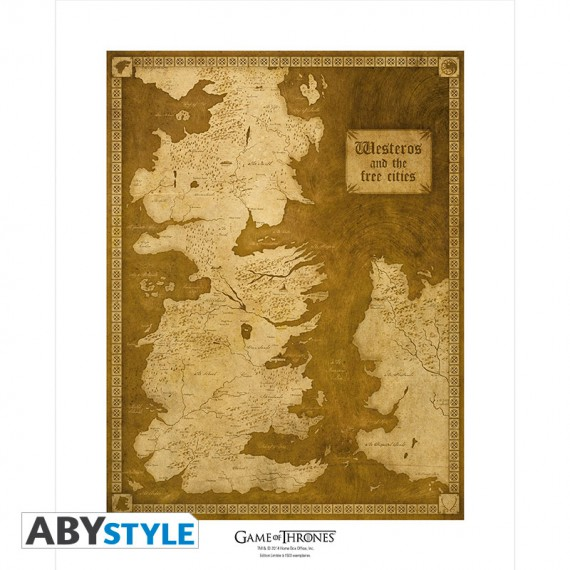 Poster Game of Thrones Carte de Westeros