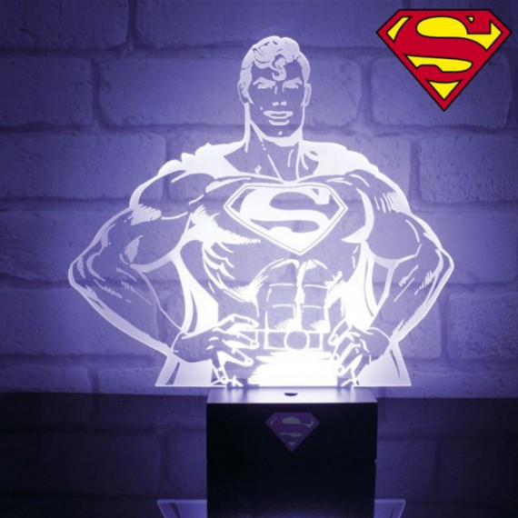 Lampe d'ambiance buste Superman