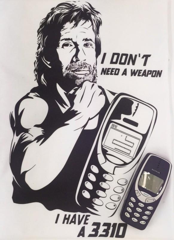 Présentation de Yoka Pack-t-shirt-chuck-norris-nokia-3310