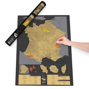 Carte de France à gratter Luxe