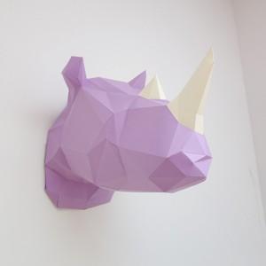 Sculpture en papier, Didier le Rhino