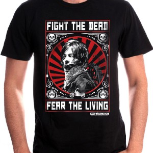 T-shirt Homme Daryl fight the Dead - Walking Dead