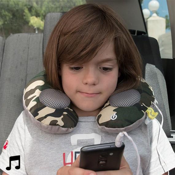 Coussin masseur de cou avec haut-parleurs