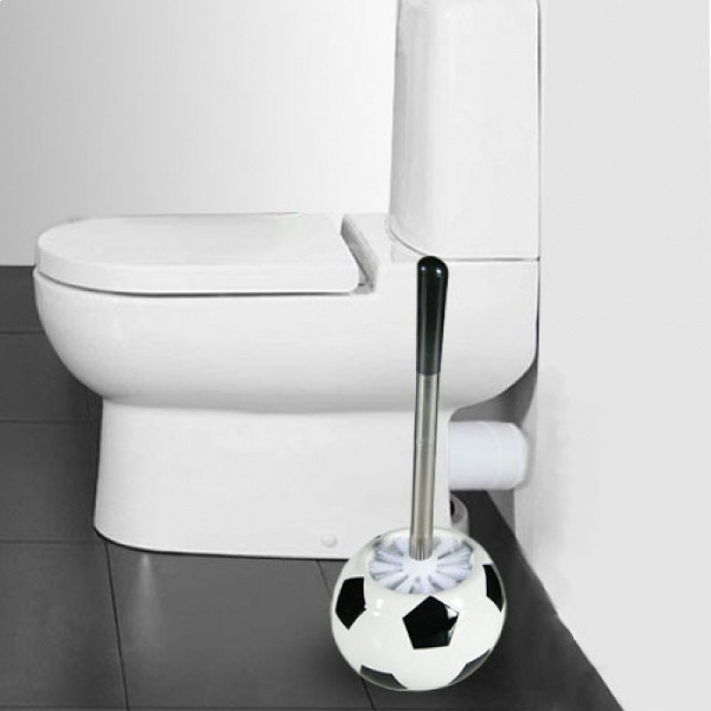 Brosse wc ballon de football for Brosse a wc original