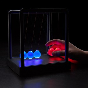 Pendule de newton à lumières multiples