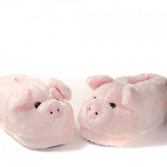 Chaussons animaux Cochon