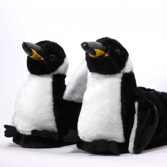 Chaussons animaux Pingouin