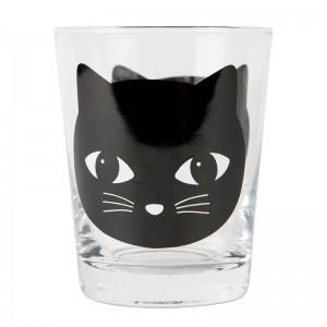 Verre chat noir