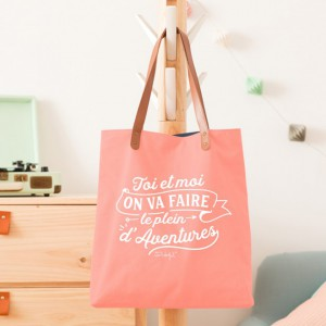 Tote bag - Toi et moi on va faire le plein d'aventures