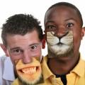 Sous-verres drôles à motifs bouches d'animaux