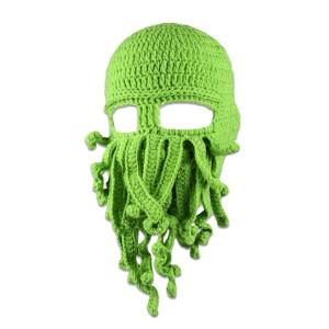 Masque/cagoule de pieuvre à tentacules - Vert