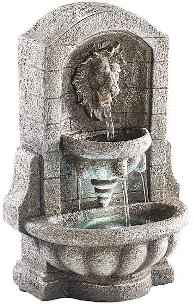 fontaine d 39 int rieur sculpture lion. Black Bedroom Furniture Sets. Home Design Ideas