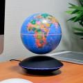 Base électromagnétique noire avec induction - globe géopolitique lumineux grand modèle