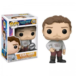 Figurine POP Les Gardiens de la Galaxie 2 - Star-Lord avec shirt (Exclusive)