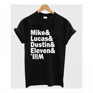 Tshirt Mike & Lucas & Dustin & Eleven & Will