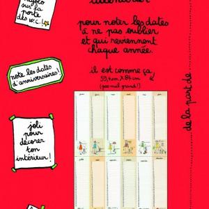 Calendrier perpétuel anniversaires - poster