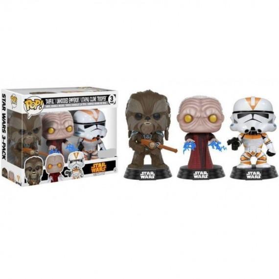 Figurine pop Star Wars - Tri-Pack Chewbacca, l'empereur et Stormtrooper Utapau