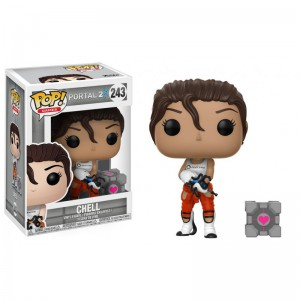 Figurine Portal 2 - Chell with Portal Gun Pop 10cm