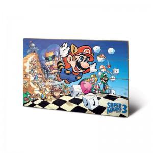 Tableau en Bois Super Mario Bros Nes