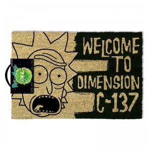 Paillasson Rick et Morty - Welcome to Dimension C-137
