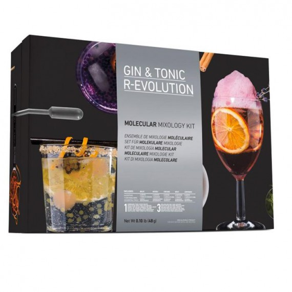 Cocktail gin tonic moléculaire