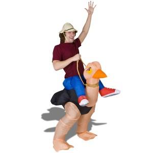 Costume aventurier à dos d'autruche