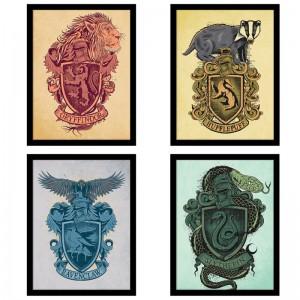 Cadre Harry Potter Blasons des maisons