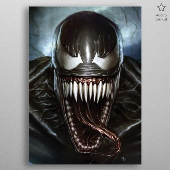 Panneau en Métal Marvel - Venom Superhero