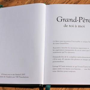 Grand-père ... de toi à moi - Le journal de ta vie