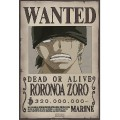 "Poster - One Piece ""Wanted Zoro"""