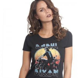 T-Shirt Walking Dead Dixon Metal (Femme)