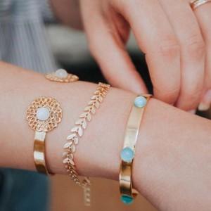 Bracelet en épi doré à l'or fin - Coralie