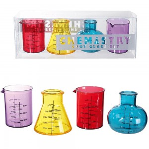 Lot de 4 shooters style chimie