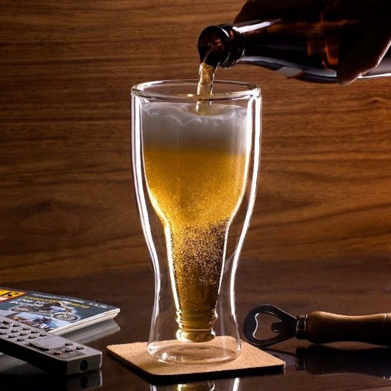 Verre à Bière Bouteille Inversée