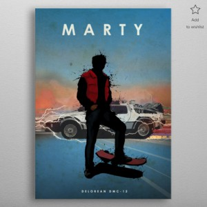 Poster en Métal DeLorean - Retour vers le futur