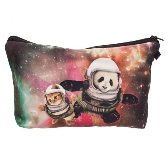 """Trousse imprimée 3D """"Panda Chat dans l'Espace"""""""