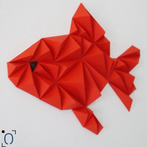 Duo Poissons rouges origami DIY - Made in France