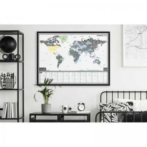 La carte du monde à gratter des gros mots