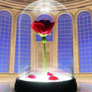 Lampe Disney La Belle et la Bête - Rose Enchantée