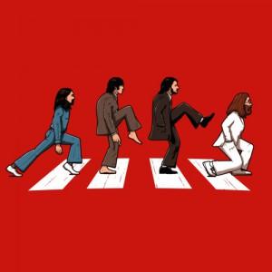 T-shirt - The Beatles vs. Monty Python
