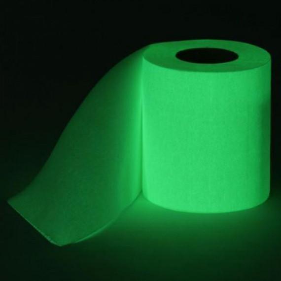 Papier toilettes lumineux phosphorescent