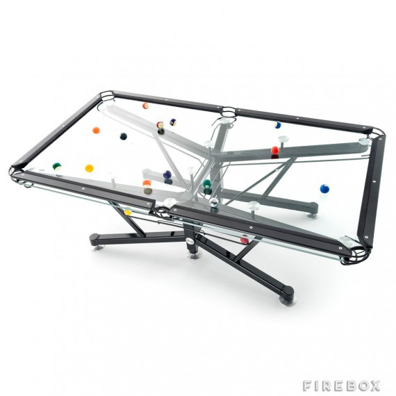 Billard transparent en verre