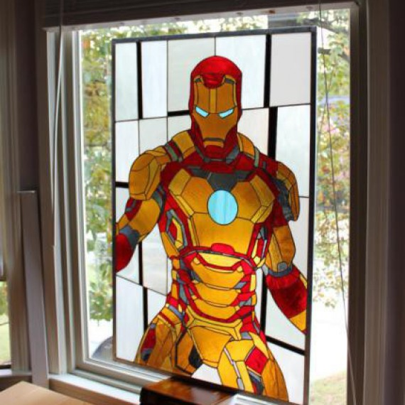 Vitrail Iron Man