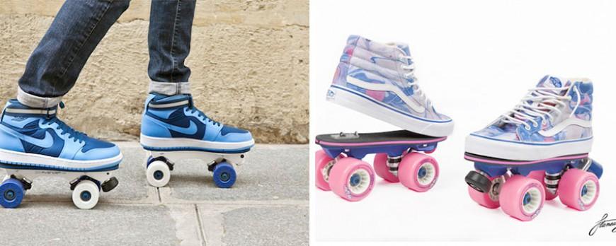 transformez vos chaussures en rollers grce on wheelz les patins en un clips
