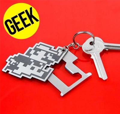 Porte-clés multi outils super Mario retro