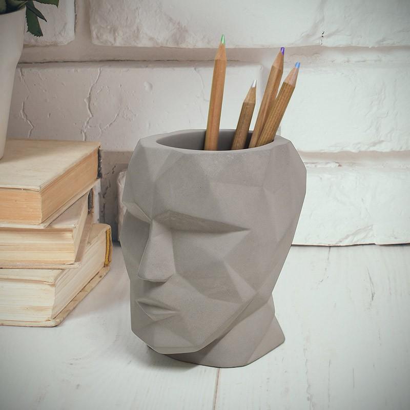 Pot à crayon ciment